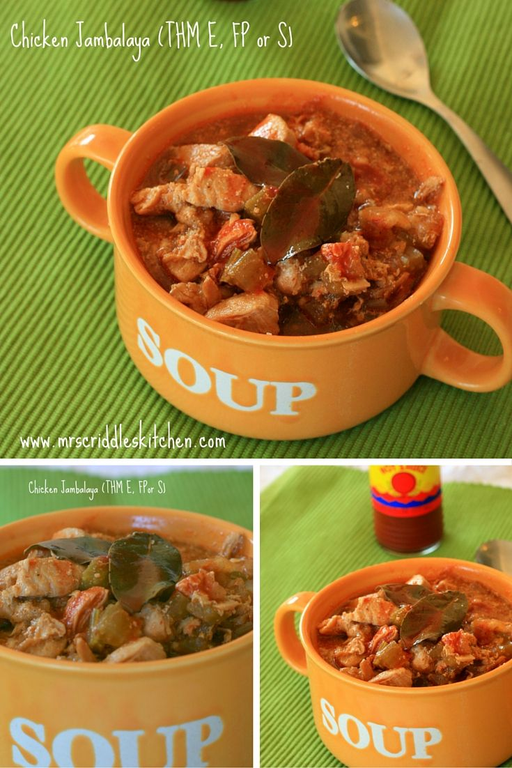 A Chicken Jambalaya Recipe you can enjoy in any category as a Trim Healthy Mama (E, S, or FP)