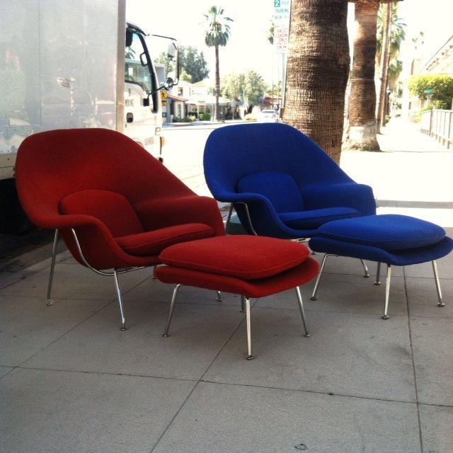 Eero Saarinen Womb Chair u0026 ottoman vintage Knoll Eames mid-century modern ... & Eero Saarinen Womb Chair u0026 ottoman vintage Knoll Eames mid-century ...