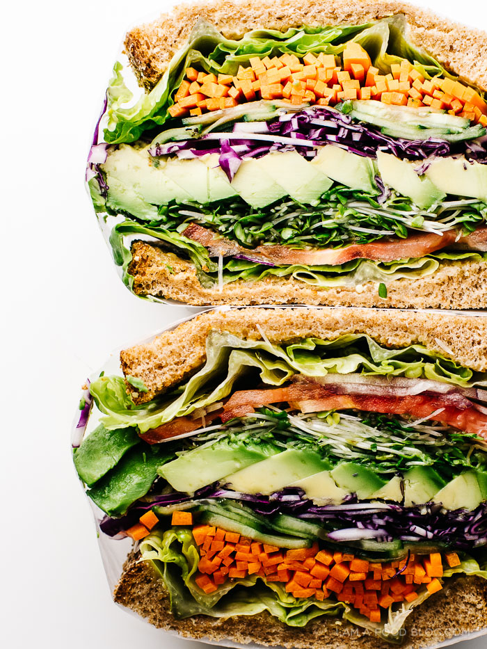 The Ultimate Veggie Sandwich I Am A Food Blog Recipe Best Vegetarian Sandwiches Vegetarian Sandwich Recipes Veggie Sandwich Recipes