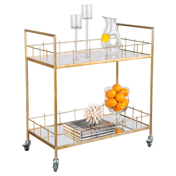 Corinne Serving Cart in Gold - Aquitaine & Co. on Joss & Main ...