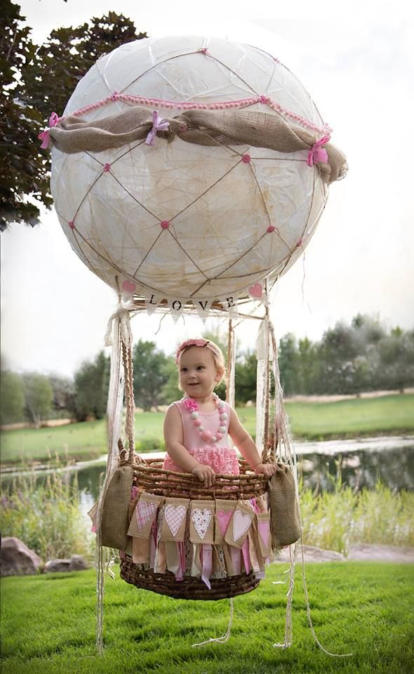Hot Air Balloon Photo Prop Photography, 1st Birthday
