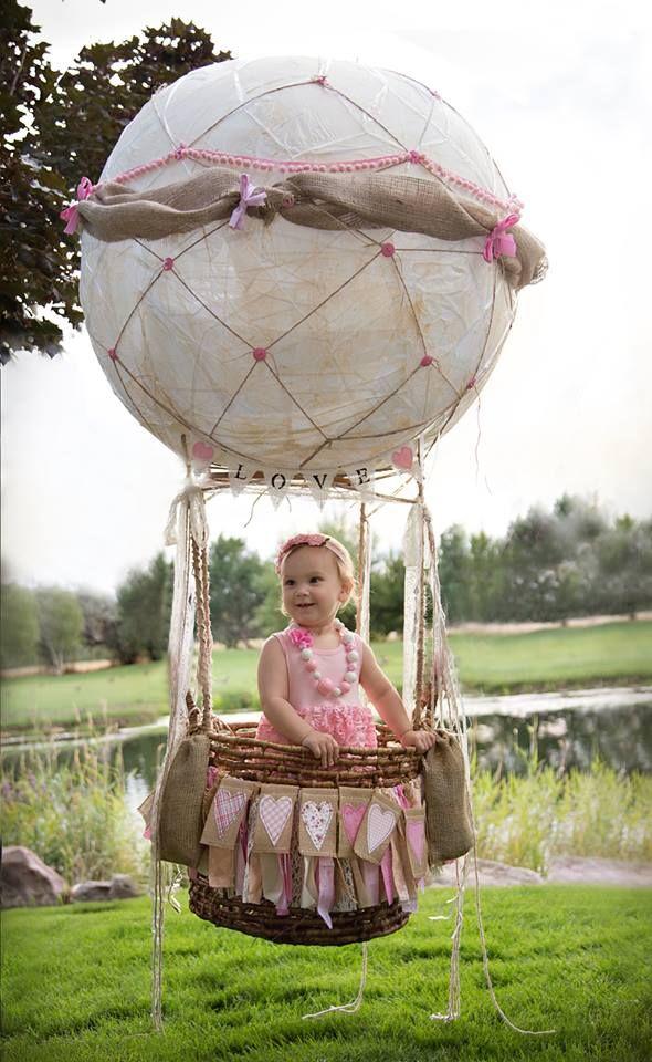 Hot Air Balloon Photo Prop Photography, 1st Birthday