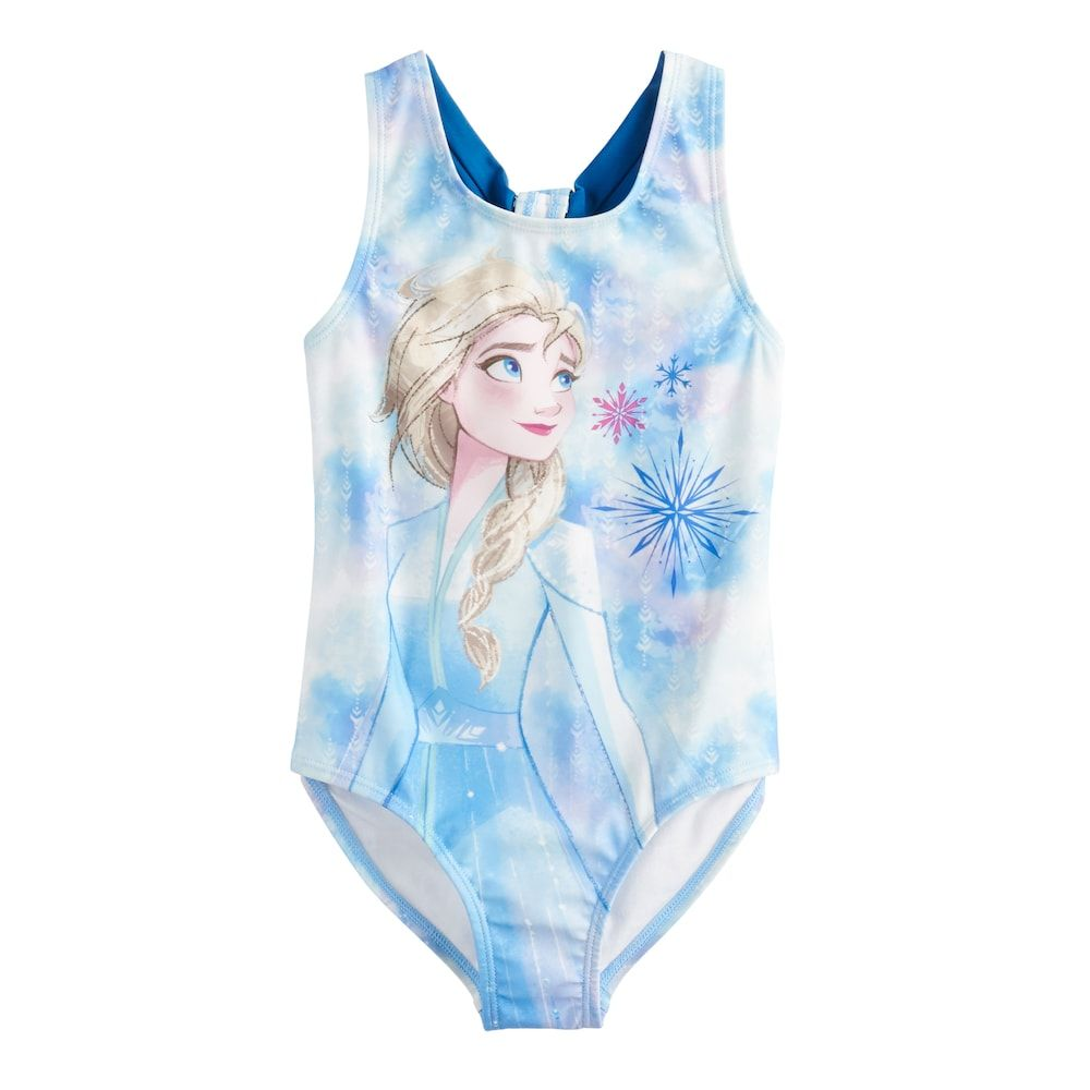 Disney Anna /& Elsa Trikini Swimsuit for Girls