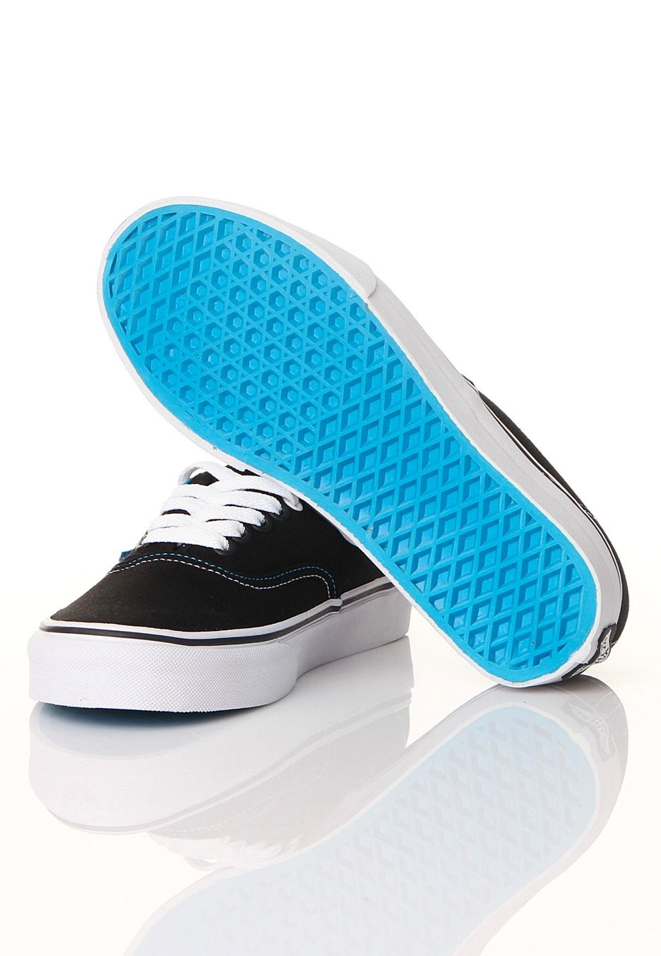 fcac59f6330f Vans - Authentic Pop Black Methyl Blue - Girl Shoes - Official ...