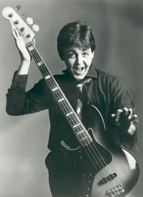 Rare Post Beatles Picture Of Paul With A Fender Precision Bass Very Unusual