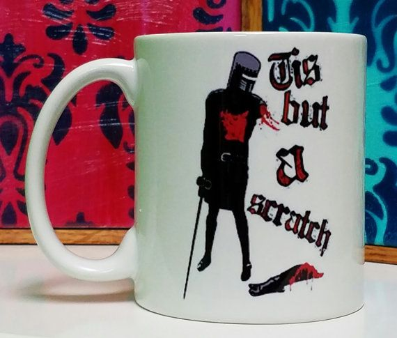 Tis But A Scratch Mug by WaywardAppleGifts on Etsy