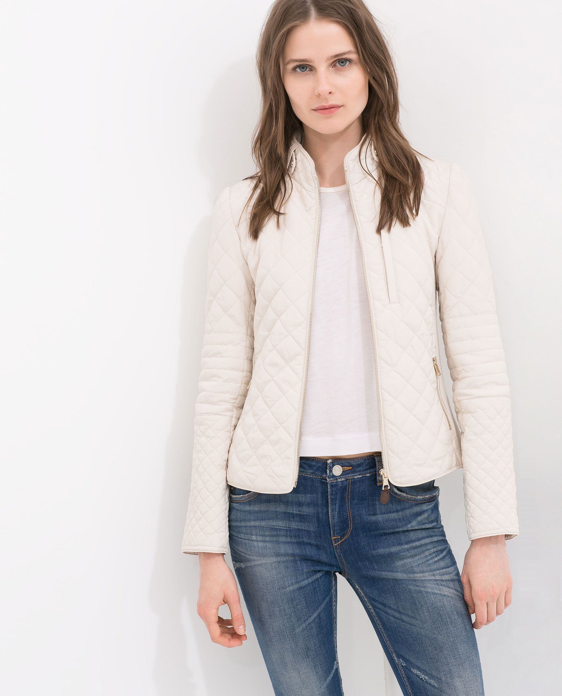 Quilted Jacket Jackets Outerwear Woman Zara United States Quilted Jacket Outfit Blazer Jackets For Women Womens Casual Outfits [ 2379 x 1920 Pixel ]
