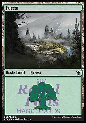 **4x FOIL Forest #267** MTG KTK Khans of Tarkir Basic Land MINT green