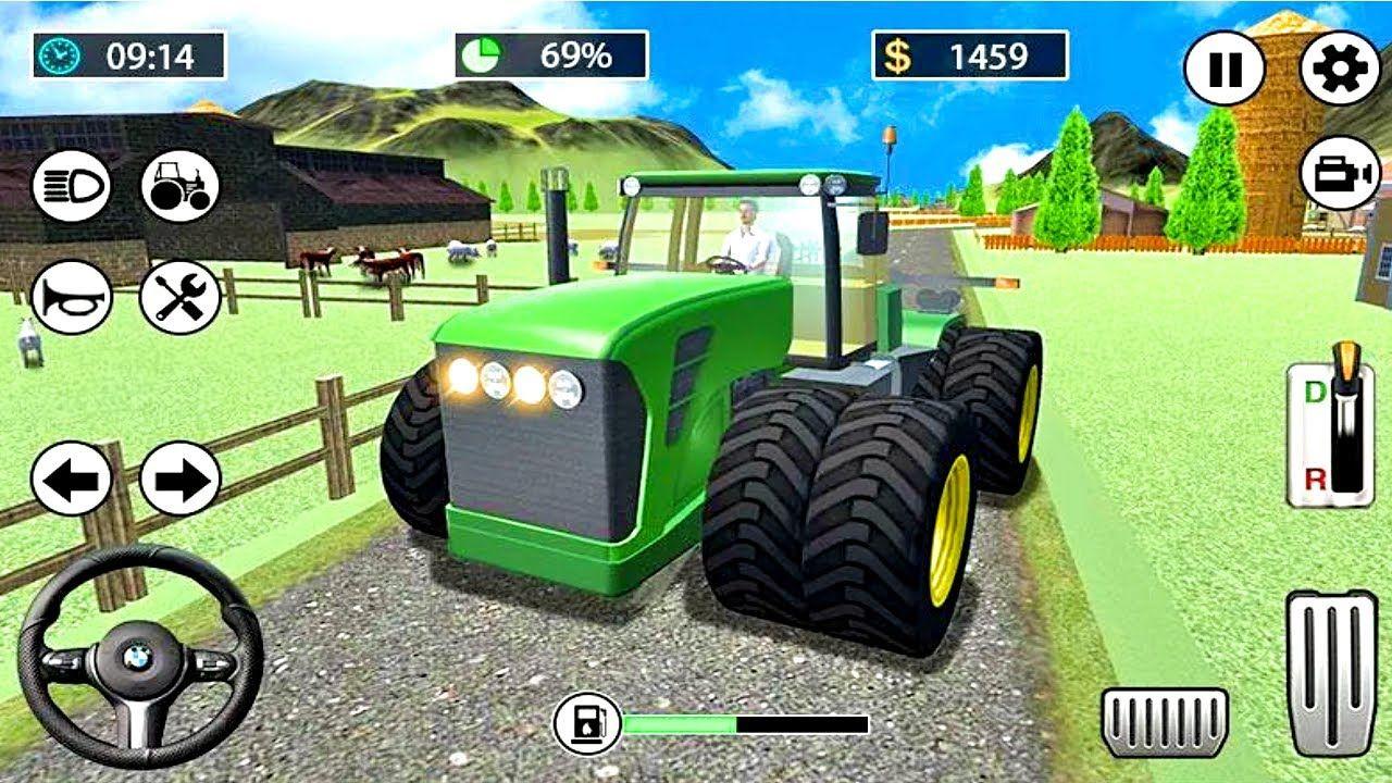 Tractor Games Farming Tractor Driving Farmer Simulator 2020 1