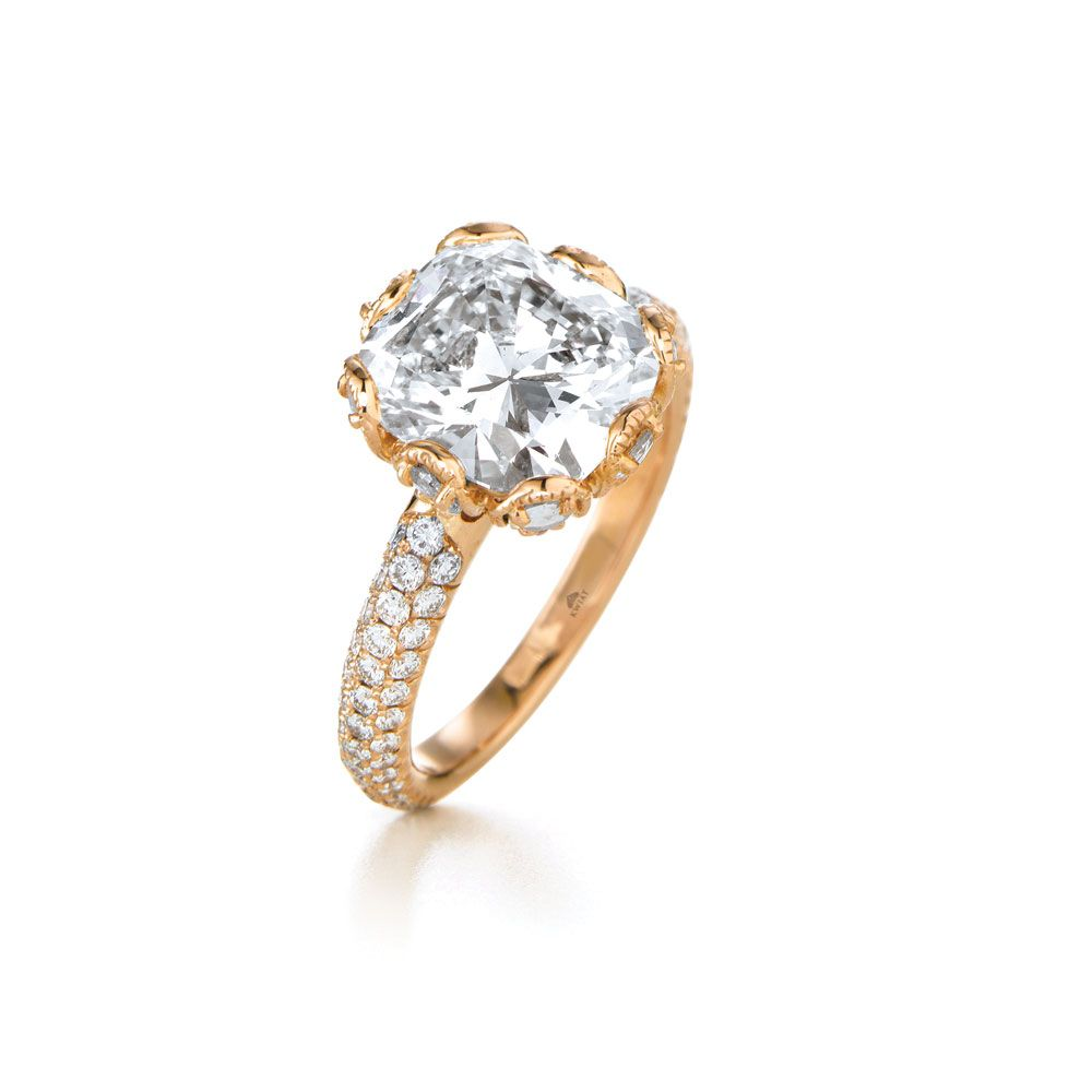 collection kwiat white vintage jewelry diamond gold in ring style