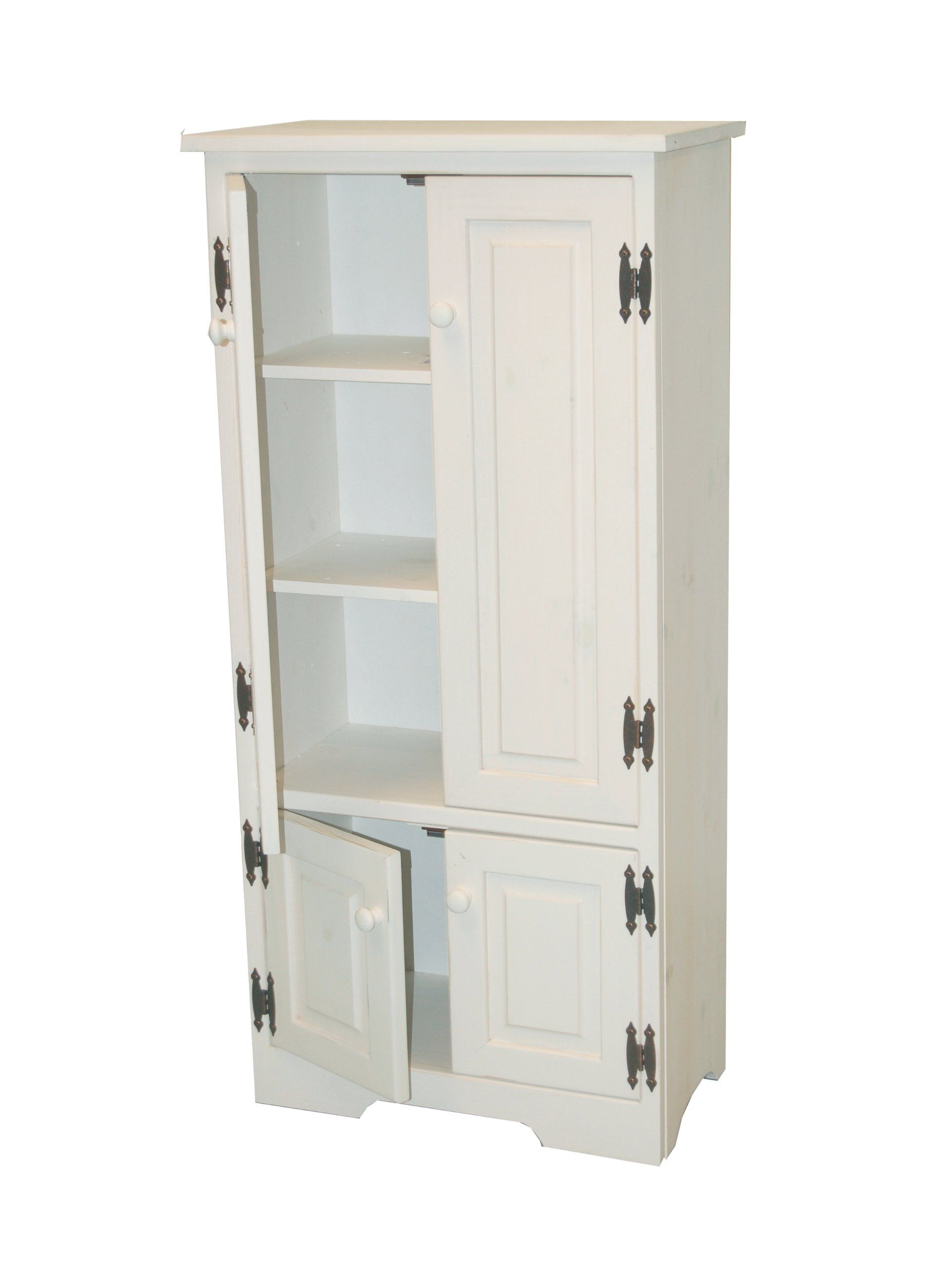 Amazon.com - TMS Tall Cabinet, White - Free Standing Cabinets | le ...