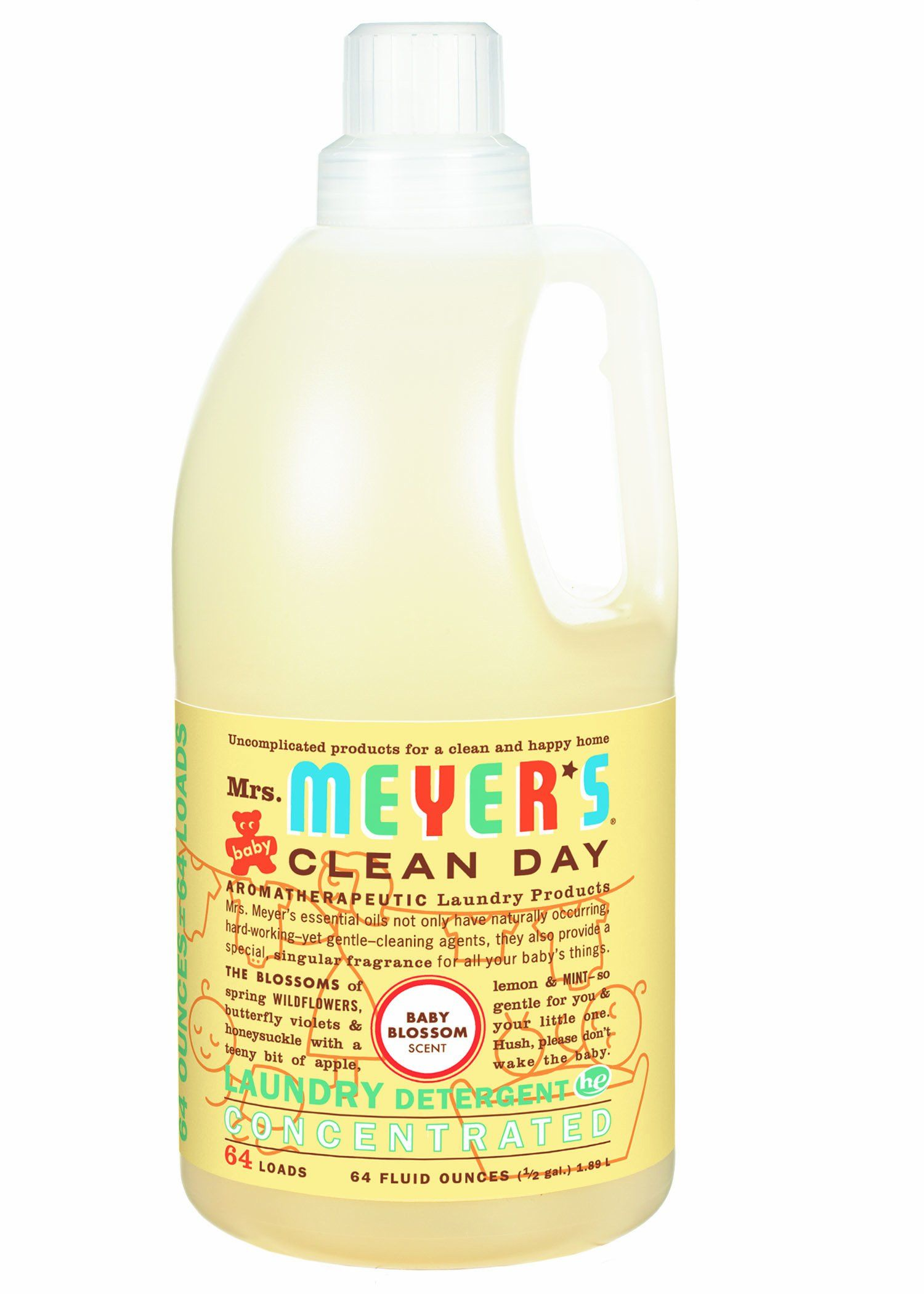 Amazon Com Mrs Meyer S Clean Day 2x He Liquid Laundry Detergent