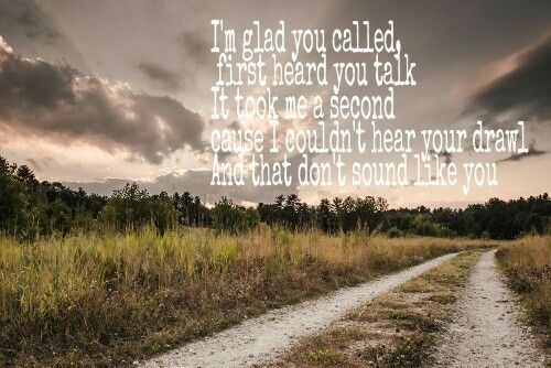 Country song glad you called