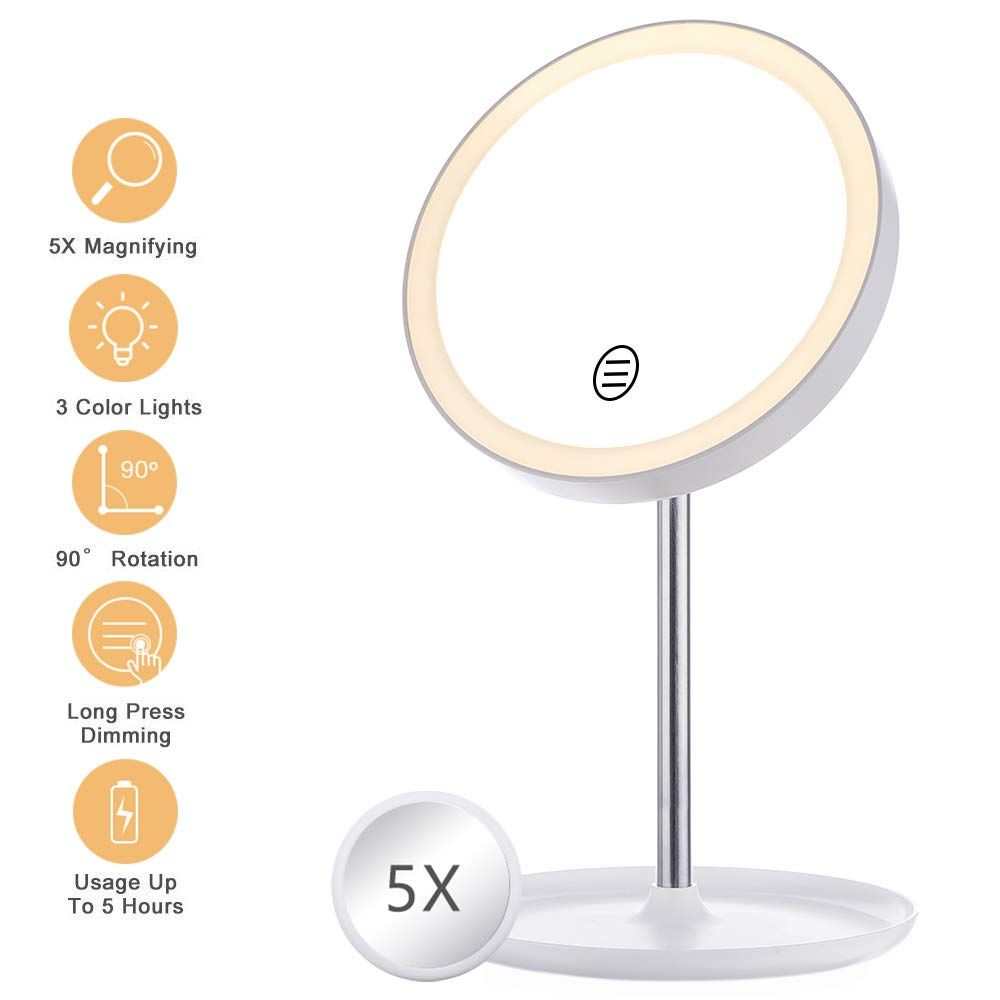Glime Lighted Makeup Mirror Led Mirror Lights Vanity Makeup Mirror