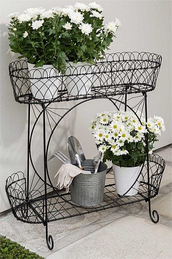 Garden Outdoor Iron Plant Stand Big W Iron Plant Stand