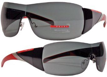 51212d3072 Prada Sport Sunglasses SPS 07H 7OV-1A1 Black-Red   Gray Prada.  172.50