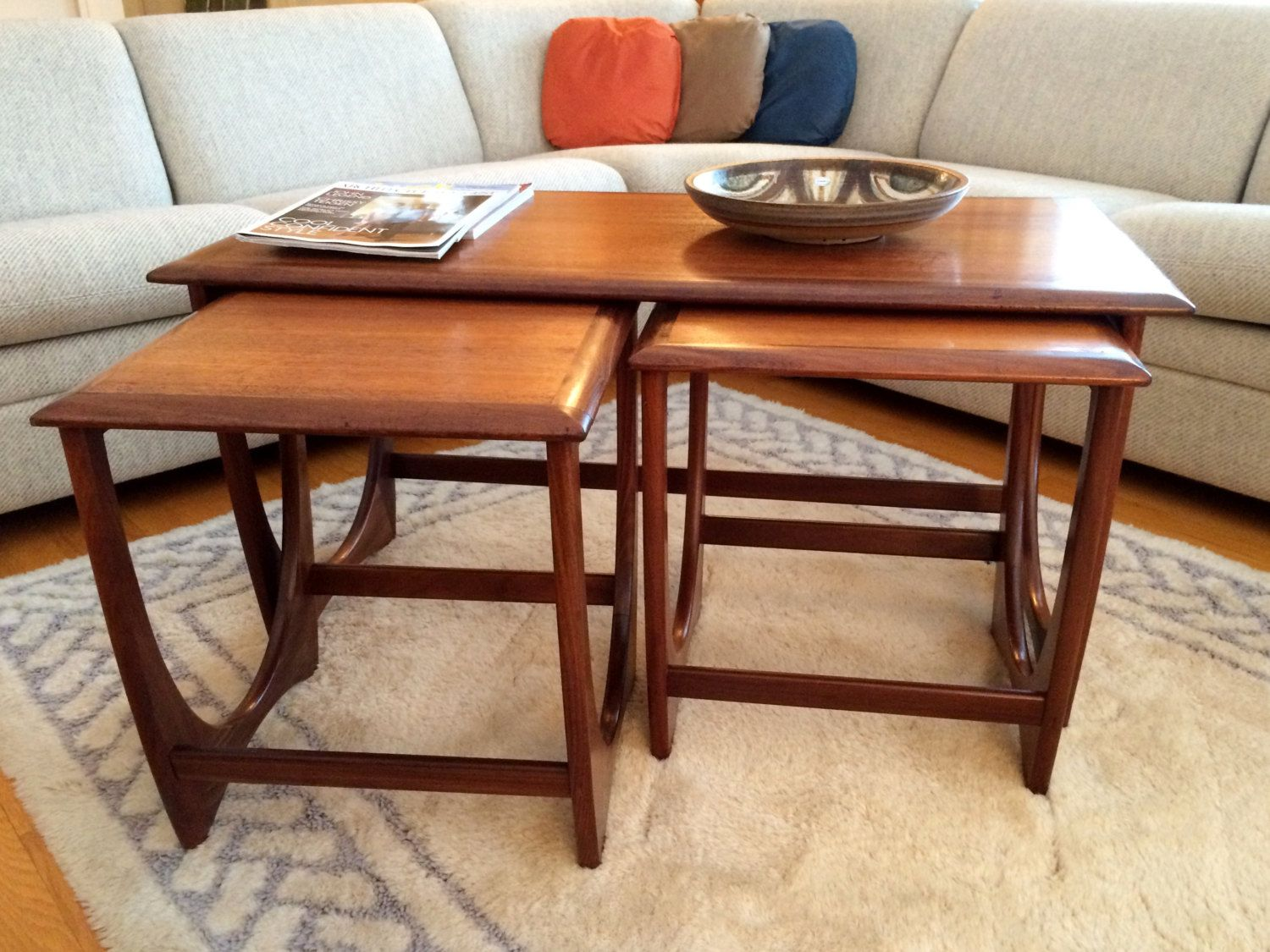G Plan Teak Nesting Tables Coffee Table Matching End Tables Designed For E Gomme By Modernairemcmstudios On Coffee Table Nesting Tables Table Design