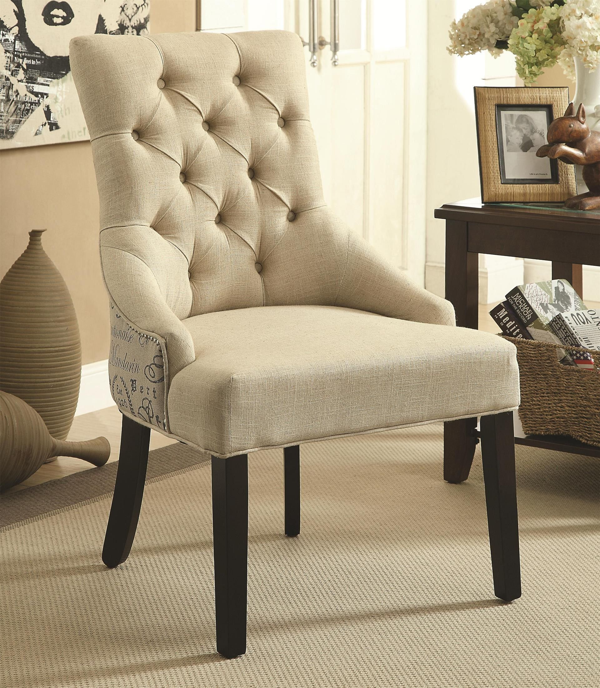 902171 tufted accent chair set of 2 902171 coaster