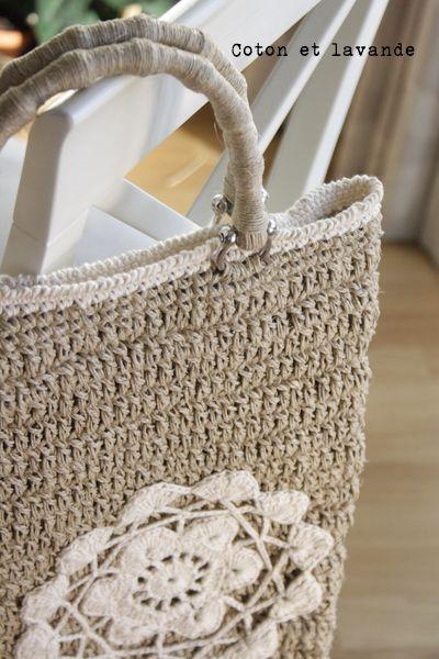 Coton Et Lavande Hemp Bag Bolsos De Ganchillo Bolso De Ganchillo Regalos De Ganchillo