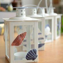 NOVÝ!  Stredomorskom štýle krásne malé železnej svietniky / Sviečka Stojany Creative Ocean svietidla, pre domáce dekoráciu (Čína (pevninská časť))
