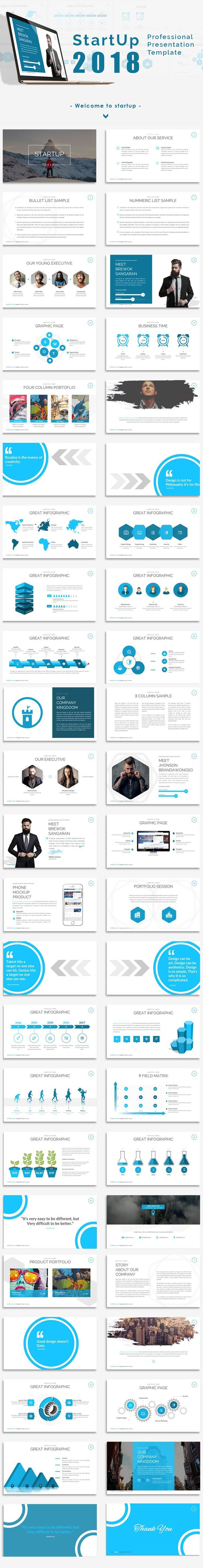 start up 2018 presentation powerpoint template powerpoint keynote presentation templates pinterest template powerpoint themes and proposal