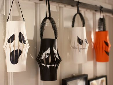 boo tiful paper lanterns tools and materials paper go online to find an easy halloween decorationshalloween - Paper Halloween Decorations