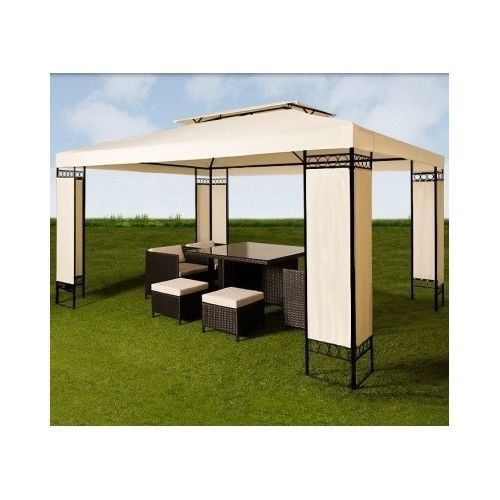 Garden Marquee Gazebos Pavilion Canopy Terrace Patio Yard Tent- Beige Shade 3x4  sc 1 st  Pinterest & Garden Marquee Gazebos Pavilion Canopy Terrace Patio Yard Tent ...