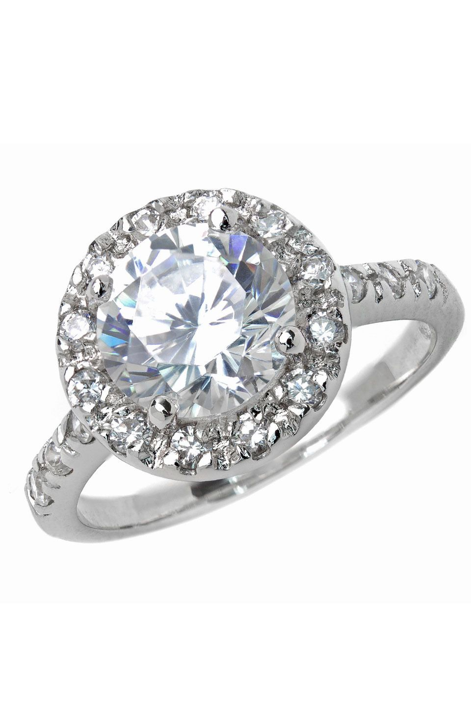 Sizable 1.7ct Diamond and 14K White Gold Engagement Ring. Looks like ...