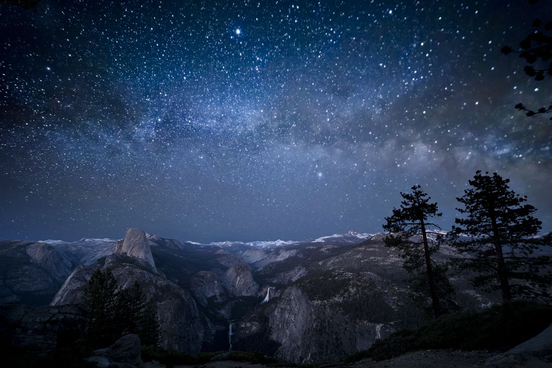 Glacier Point and the Milky Way Photos Pinterest