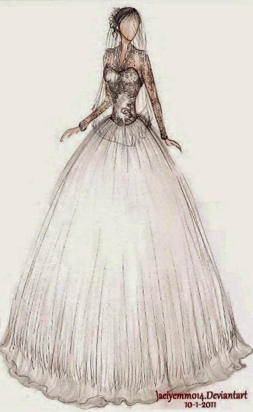 wedding dress | Illustration | Pinterest