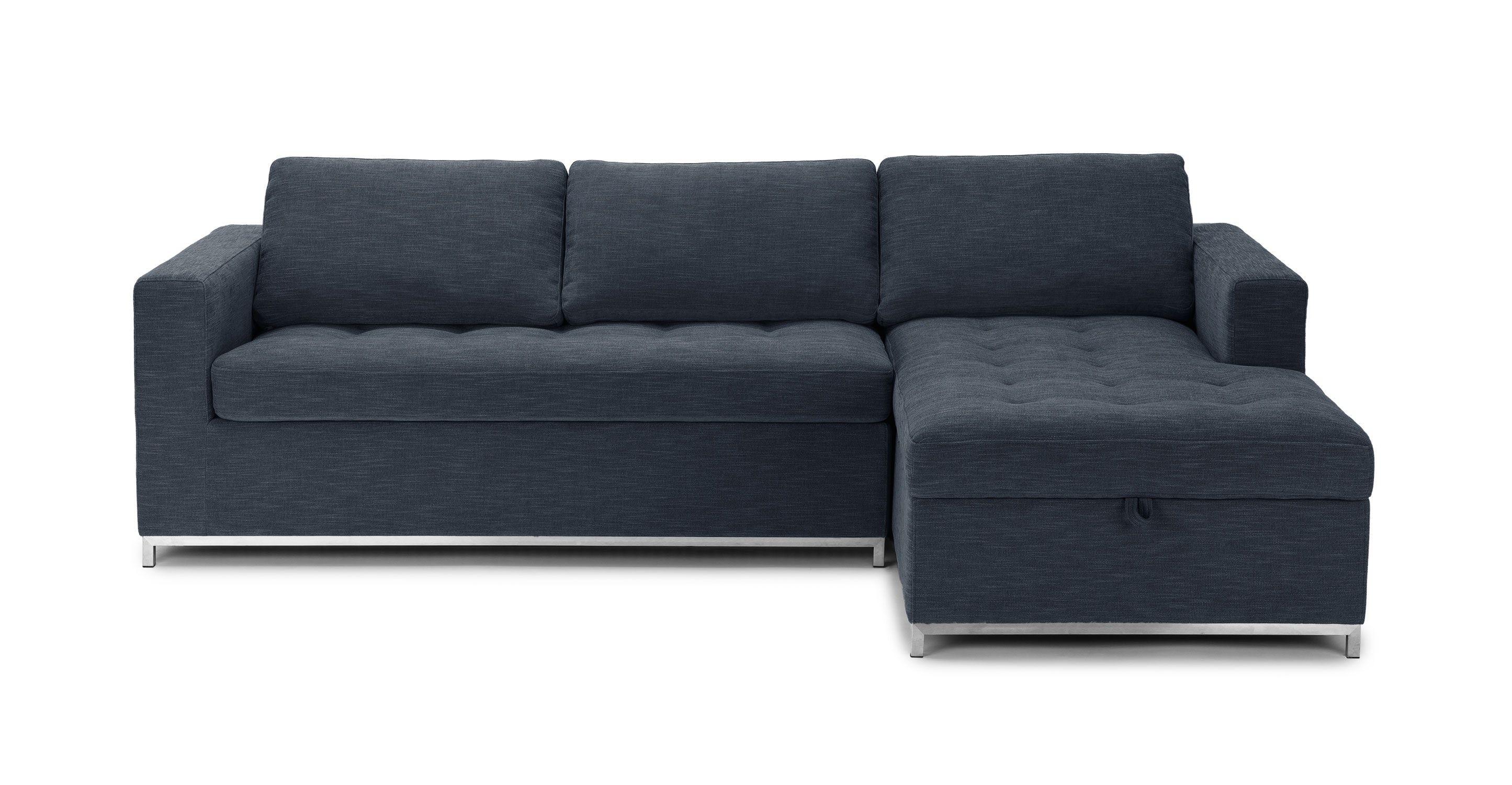 Soma Midnight Blue Right Sofa Bed