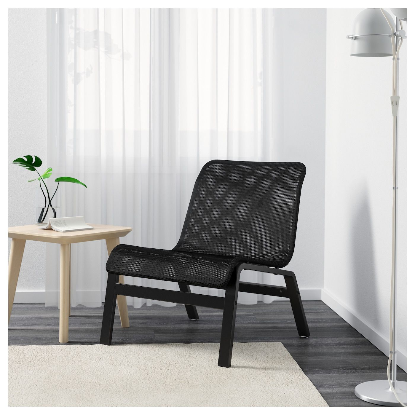Nolmyra Fatolj Svart Svart Ikea Scandinavian Furniture Design Accent Chairs For Living Room Black Lounge Chair