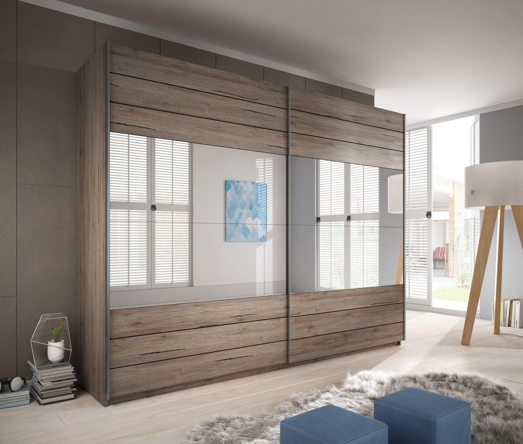 Galaxy Mirror Wardrobe 270cm Bedroom furniture sets