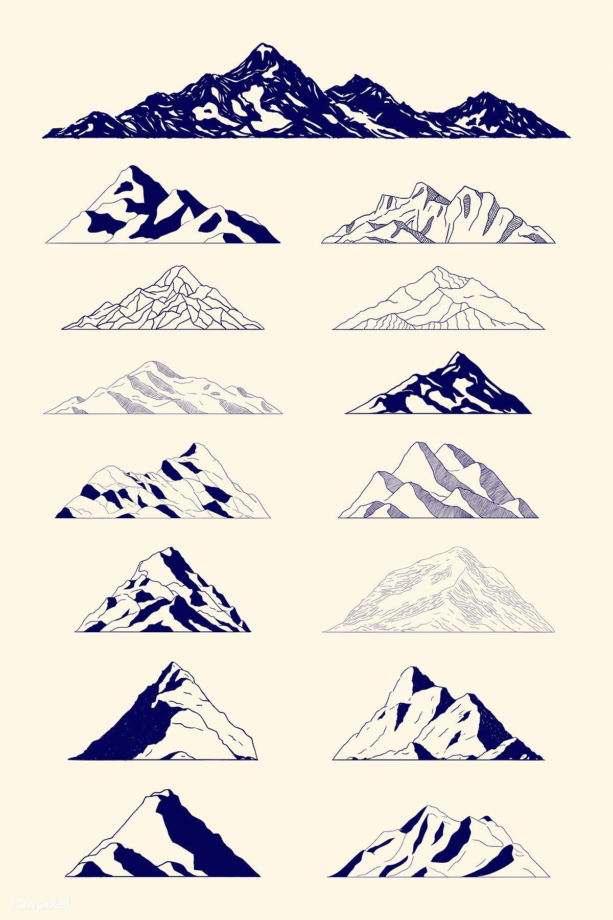 Download premium vector of Mountain shapes for logo vector