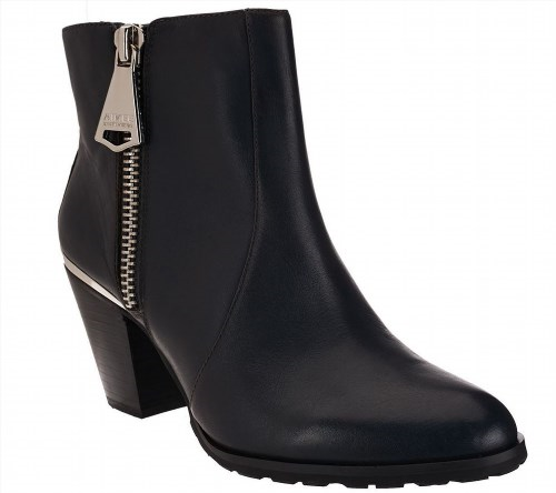 127.69$  Watch now - http://viwqq.justgood.pw/vig/item.php?t=0b0ksa030817 - Aimee Kestenberg Side Zipper Leather Ankle Booties Dana Grey 8M NEW A258833 127.69$