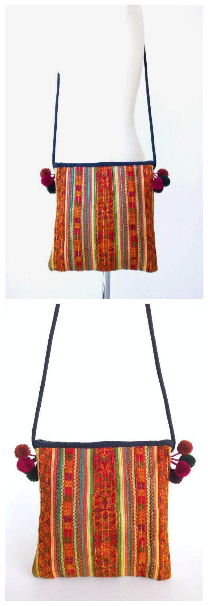 Hmong Crossbody Bag - Boho Gypsy Bag - Ethnic Tribal Bag - Bohemian ...