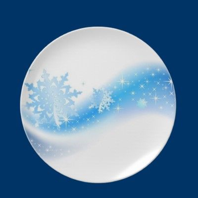 Snowflake Wave Dinner Plates by fstasu57