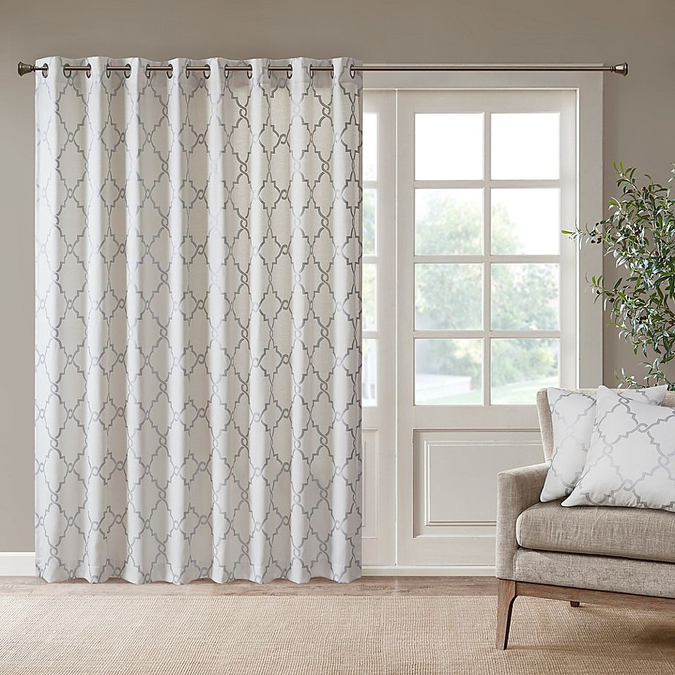 No 918 Sheer Voile 100 X 84 Grommet Top Patio Curtain Panel Reviews Home Macy S Patio Door Curtains Sliding Patio Doors Panel Curtains