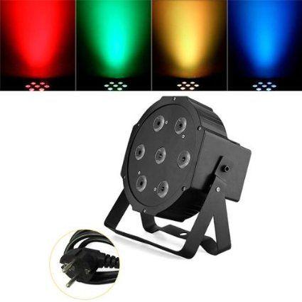 CroLED® 70W DMX512 PAR Bühnenlampe Sprachsteuerung - RGB + W - Disco DJ Stage Party Lichteffekt Leuchte - Bühnen Beleuchtung Lampe - AC 90-240V: Amazon.de: Musikinstrumente