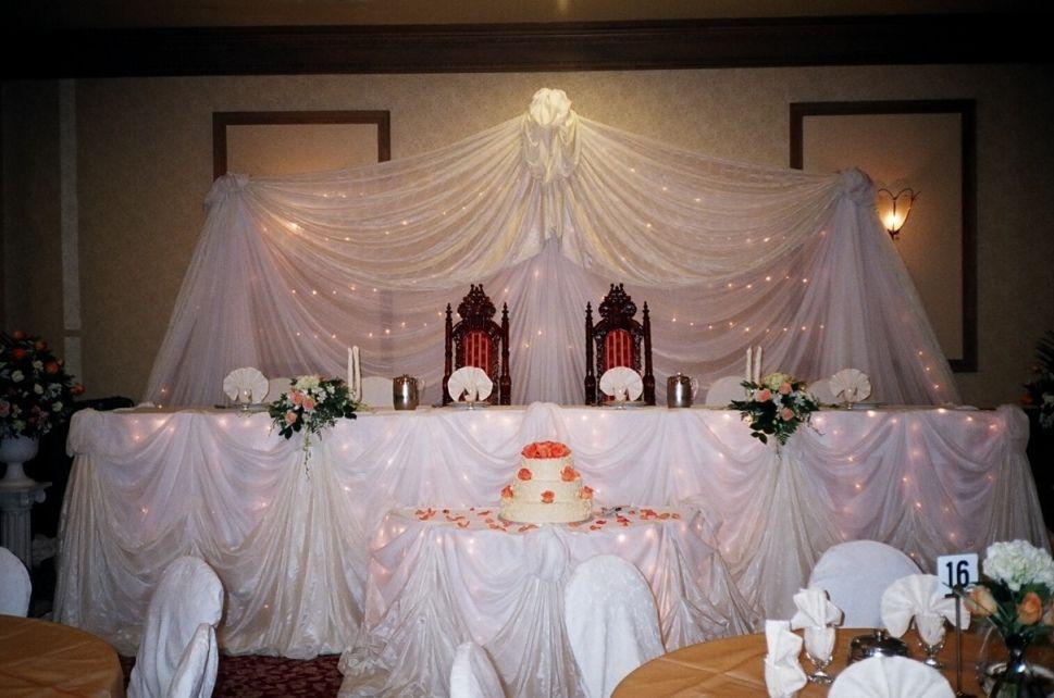 Ideas For Head Table At Wedding unique head table weddings weddingreception headtable Wedding Head Table Decorations The Tides Head Table Decor Includes Back Drop