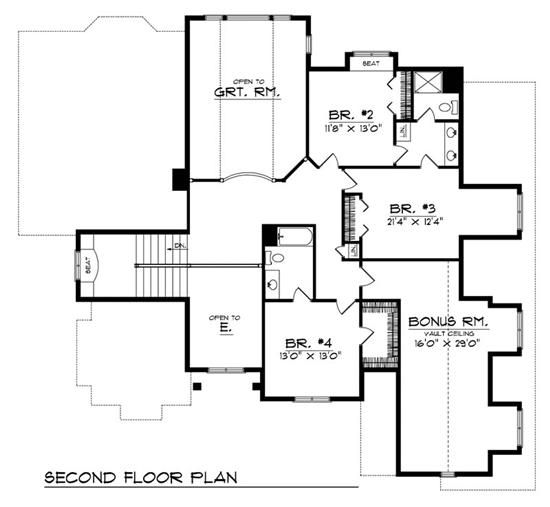 am 75097 2nd floor 3 bedrooms giant rec room - 3 Bedroom House Plans With Rec Room