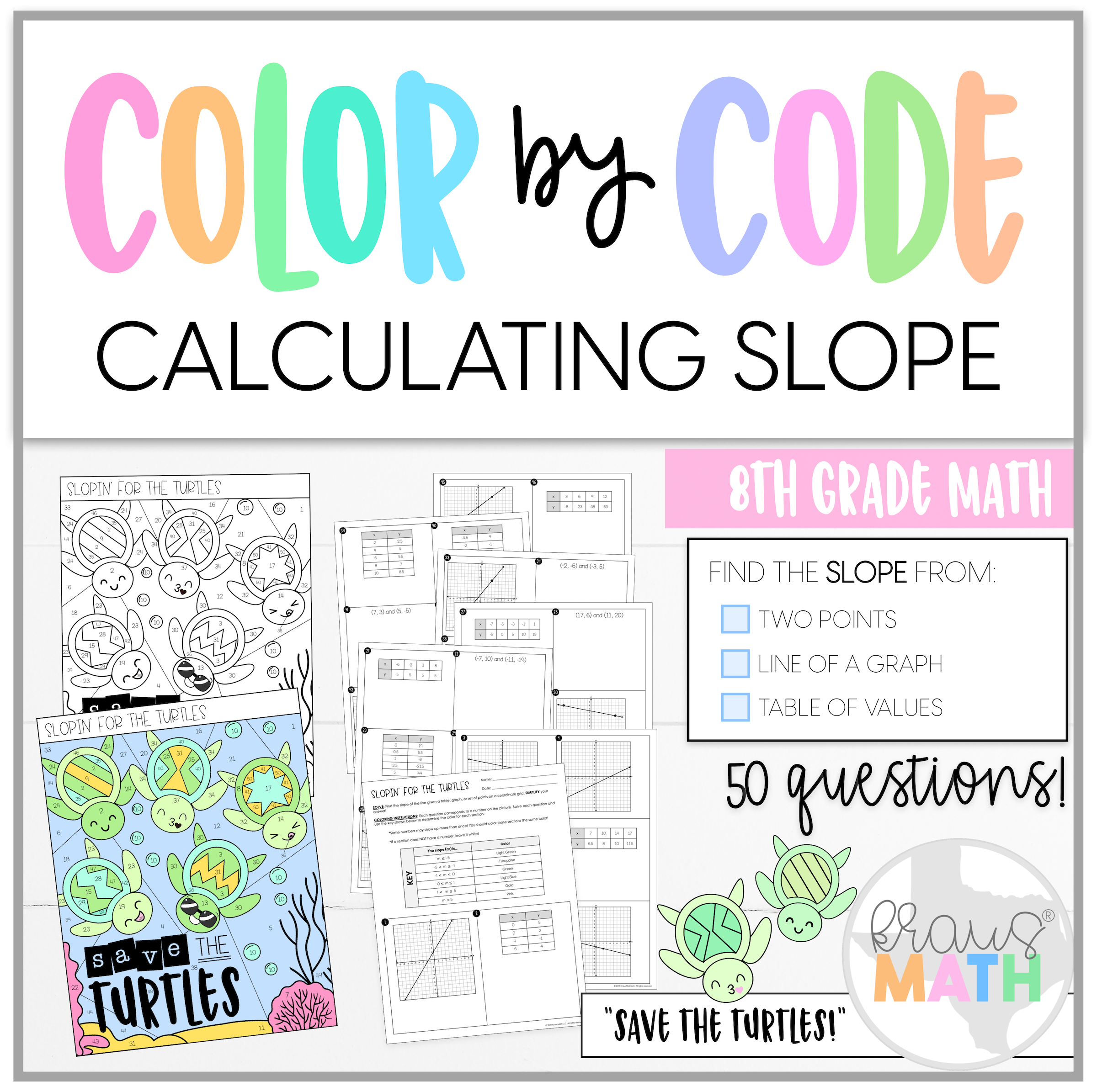 Slope Color By Number Save The Turtles