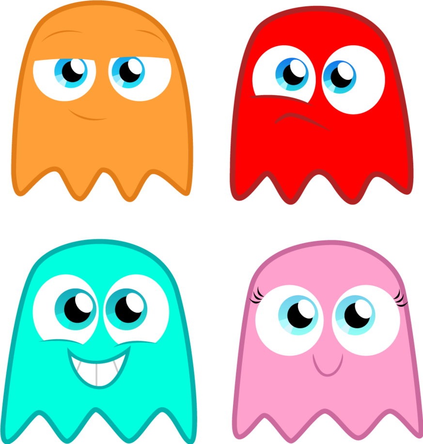 pacman ghost blue wallpaper the pac man ghosts by alisonwonderland on deviantart image - Pac Man Characters Coloring Pages