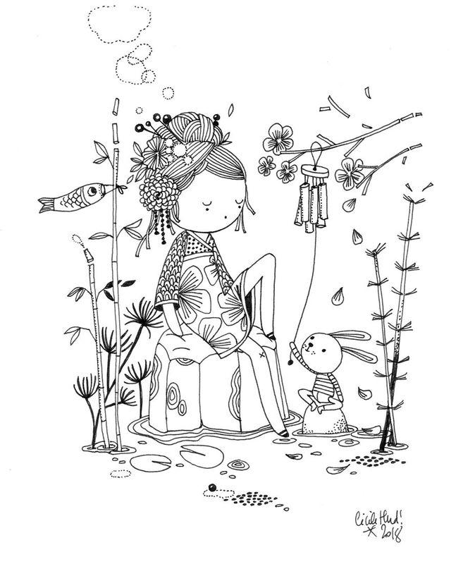 Wagashi les chosettes illustrations images dessin watercolor art drawings et - Petit quick coloriage ...