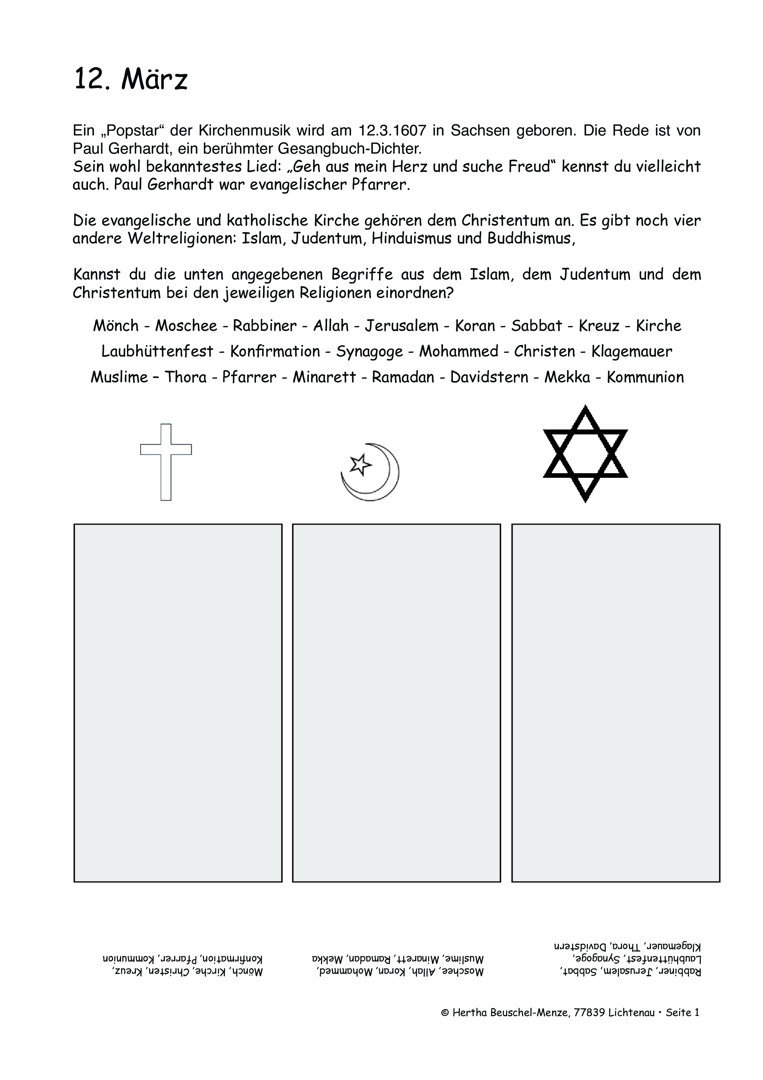 Pin Auf Religion Grundschule Unterrichtsmaterialien