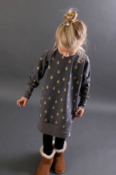Photo of Oversized sweater dress for children – sewing instructions and pattern …
