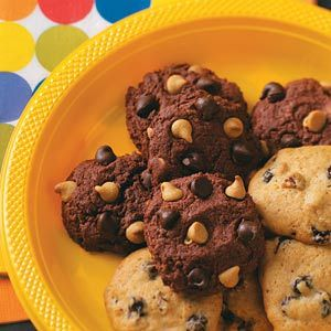 Chocolate Cake Mix Cookies Recipe. These gooey, peanut-buttery treats taste like cake and cookies in one. They'll be a hit at any bake sale. —Kathy Lazor, Vienna, Ohio