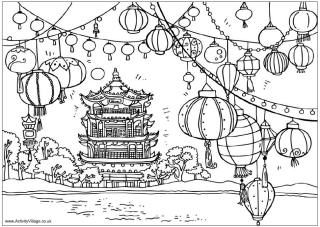 Chinese New Year Coloring Pages Chinese New Year Crafts Asian - Coloring-pages-for-chinese-new-year