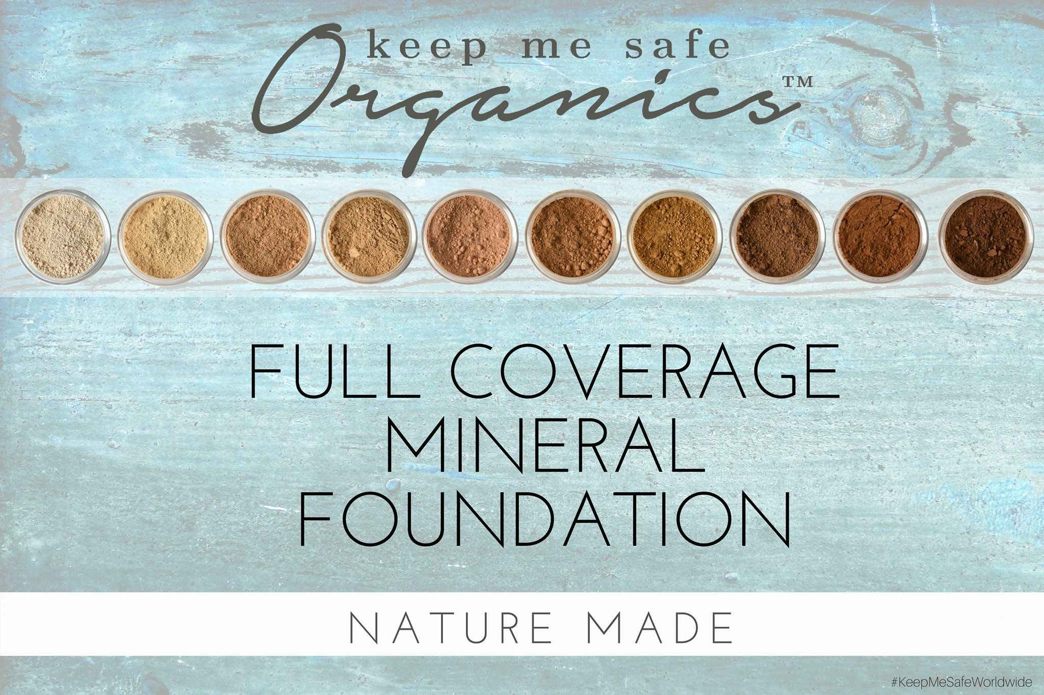 Keep Me Safe Organics beautiful mineral foundations. Check
