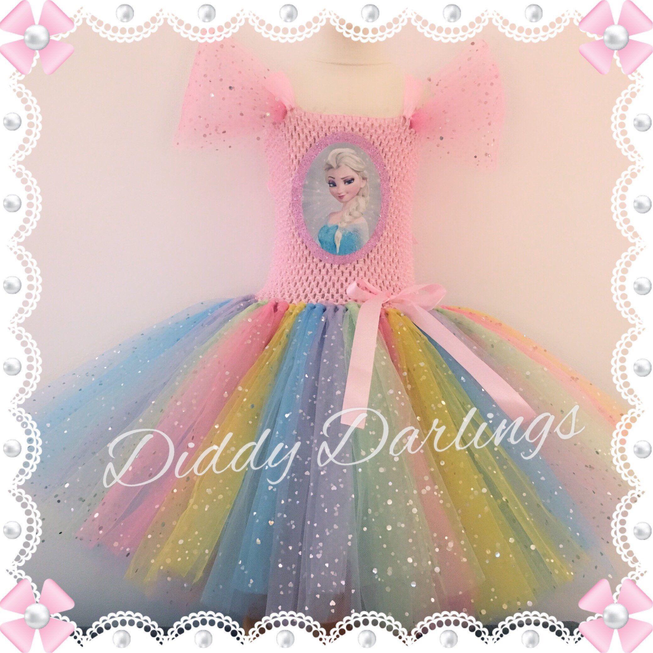 Sparkly Elsa Tutu Dress. Elsa Costume Dress. Inspired Handmade Dress ...